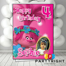 Personalised Trolls Poppy Birthday Card • A5 • Your Name, Age, Photo