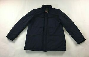 Mens Tumi Full Zip Jacket Coat Sz L Large Windproof Waterproof Marine Blue J-19