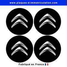 sticker CITROEN noir pour cache moyeu de jante (lot de 4)