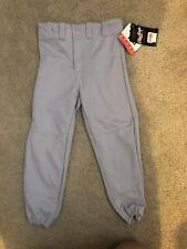 Rawlings's Youth Medium Baseball/Softball Pants Grey Visa Sport NEW