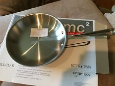 """All-Clad MC2 Master Chef2 Fry Pan 10"""" 3 ply Easy Clean Stainless"""
