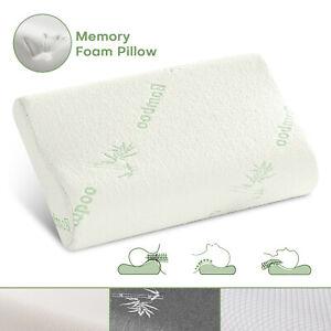 Orthopaedic Pillow Head Neck Support Contour Memory Foam Pillows W/ Pillowcase