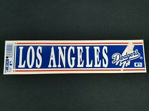 Vintage Los Angeles Dodgers Bumper Sticker MLB Retro Decal Wall Sticker 1990