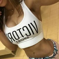 Women Sports Bra Running Yoga Gym Fitness Tank Top Padded Seamless Breathable Us