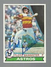 Floyd Bannister Signed Auto 1979 Topps #306 Baseball Card Autograph