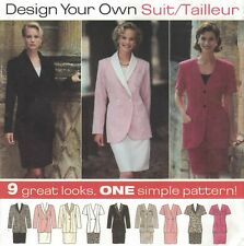 """9878 Simplicity Sewing Pattern """"Design Your Own Suit"""" Jacket & Skirt Sz 14 16 18"""