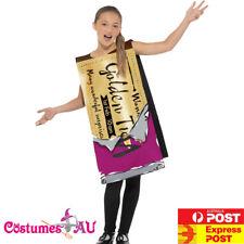 Girls Roald Dahl Winning Wonka Bar Costume Charlie Chocolate Factory Book Week