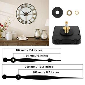 Quartz Clock Movement Mechanism w/ Long Hands Kit for 12mm Thickness Dial Clock