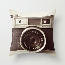 "Cuscino Pillow COVER VINTAGE FOTOCAMERA 18 "" * 18"" HOME DECOR"