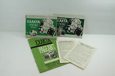 Original Instruction Manual Guide Book Exakta VX IIa Camera Supplement Pageant