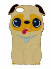 Yellow Silicone Pug Shar Pei Dog Puppy Phone Case / Cover for Apple Iphone 4 / 4