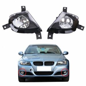 2Pcs Fog Lights Driving Lamps Cover For BMW 325i 3-Series E90 E91 2009-2011