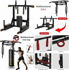 Newan Pull Up Bar Wall Mounted Chin Multi-Grip Full Body Strength.