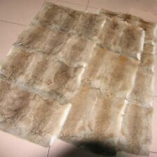 100% Real Rabbit Fur Blanket & Real Fur Carpet Rug Throw Leather Natural 4 Color