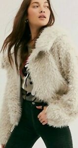 New SOLD OUT $168 Free People One ZURI PARKA XS Ivory Shaggy Sherpa-Like Slouchy