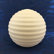 "Vintage White Glass Ceiling Pendant Lamp Swag Shade Globe 9"" MCM Mid Century Mod"