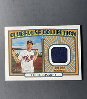 2021 TOPPS HERITAGE CLUBHOUSE COLLECTION RELIC EDDIE ROSARIO MINNESOTA TWINS