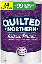 Quilted Northern Ultra Plush Toilet Paper, 24 Supreme Rolls, 3 Ply Bath Tissue