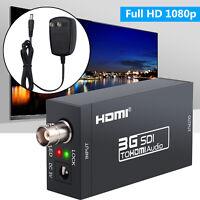 HD-SDI and 3G-SDI Signals SDI to HDMI Converter 1080P SDI to HDTV Audio Adapter