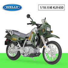 1:18 Welly 02 Kawasaki KLR 650 Motorcycle Bike Model New Green