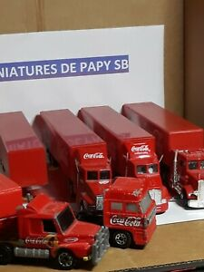 Camion Ensembles COCA COLA Matchbox et 2 China Miniature Scania DAF Mack