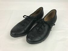 Bloch Techno Tap #3H Black Leather Lace Up Tap Dance Shoes Women's Size 8