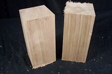 2 Piece Butternut Wood Carving Blanks 2 x 2 x 5 1/2 Inch  Craft Folk Art Lumber