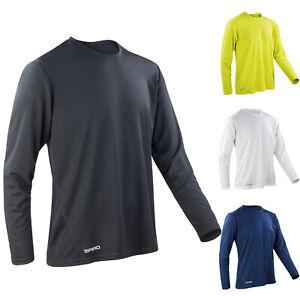 Spiro Mens Quick Dry Sports Gym Running Cycling Training Long Sleeve T-Shirt Top