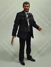Custom 1/6 Old Logen 3 Wolverine Hugh Jackman body suit metal claws Figure Set