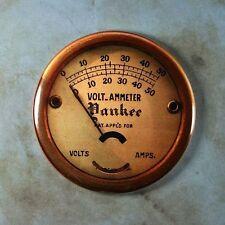 """Vintage Style Yankee Voltmeter Gauge Fridge Magnet 2 1/4"""" Steampunk Dieselpunk"""
