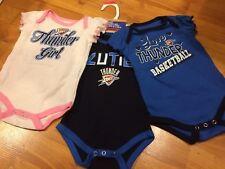 B75 Oklahoma City Thunder 3pc Creeper Girls Infant Baby 18 Months BODYSUIT OKC