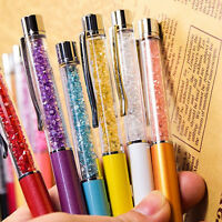 Crystal Ballpoint Pen Roller Ball Pen Black Ink Stationery Student Gifts