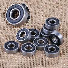 10x 608-2RS 8x22x7mm Miniature Deep Groove Steel Sealed Ball Bearings fit motor