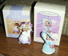 1993 & 1995 Springtime Bonnets Ornaments Hallmark Series #1 & #3 Bunny Mib