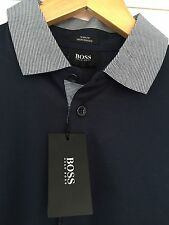 HUGO BOSS Men's Fitted No Pattern Polo Casual Shirts & Tops