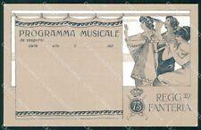 Militari 73º Reggimento Fanteria Programma Musicale cartolina XF5366