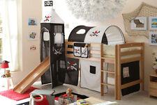 Piraten Kinder-Bettgestelle ohne Matratze aus Buche mit Natur-Farbton