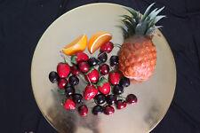 Lot of Plastic Fake Fruit Craft Pineapple Orange Slices Strawberries Cherries