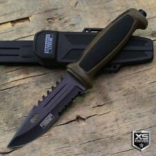 """9.5"""" Tactical SURVIVAL Fixed Blade HUNTING KNIFE Military COMBAT Camping BROWN"""