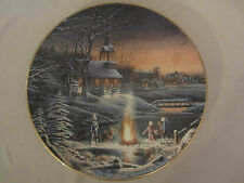 SHARING THE EVENING collector plate TERRY REDLIN Annual Christmas 1995 CHURCH