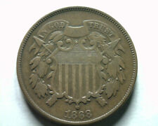 1868 TWO CENT PIECE VERY FINE VF NICE ORIGINAL COIN FROM BOBS COINS FAST SHIP
