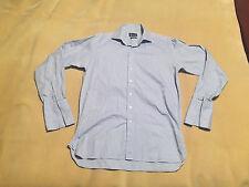 "Mens Aquascutum Two Fold Cotton Short Double Cuff Size 15"" Collar Good Condition"