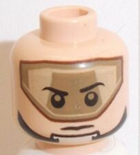 Lego T-16 SkyHopper Head x 1 Light Flesh Dual Sided for Star Wars Minifigure