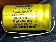 JENSEN 20uF 500V / 550V AXIAL FOR AUDIO ELECTROLYTIC CAPACITOR