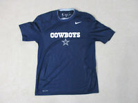 Nike Dallas Cowboys Shirt Adult Medium Blue White DriFit NFL Football Mens