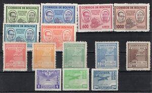 BOLIVIA 1944/57 THREE COMPLETE SERIES STAM MNH