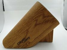 The Walnut Tradition Chicago Cutlery Wooden Knife Block Holder 9 Slots