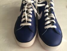 NIKE MEN 8  SWEET CLASSIC LEATHER SHOES BLUE white 318333-413 new