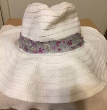 Oversized Women's Vintage Floppy Straw Hat One Size Fit Most White