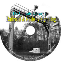 Railroad Railway Signaling Signal Circuits Train Tracks Locomotives Books CD